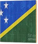 Solomon Islands Flag Wood Print