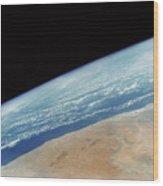 Somalia Seen From Space Shuttle Wood Print