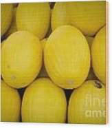 Some Fresh Melons On A Street Fair In Brazil Wood Print by Ricardo Lisboa