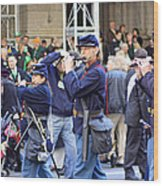 Some Revolutionary Flutiest Playing In The 2009 New York St. Patrick Day Parade Wood Print