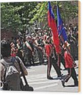 Some Young Flag Bearers Marching In The St. Patrick Old Cathedral Parade Wood Print
