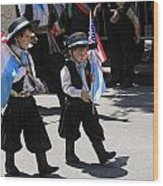 Some Young Italian Boys Marching In The St. Patrick Old Cathedral Parade Wood Print