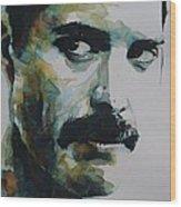 Freddie Mercury Wood Print