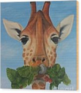 Someone Is Eating My Garden Wood Print by Pam Fries