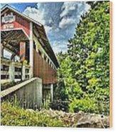 Somerset Glessner Bridge Wood Print