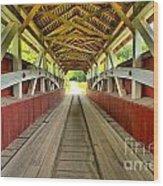 Somerset Wooden Roads Wood Print