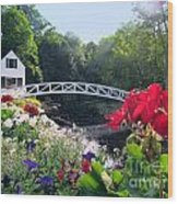 Somesville Bridge And Home Wood Print