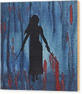 Something Wicked This Way Comes Wood Print