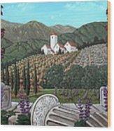 Somewhere In Tuscany Wood Print