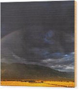Somewhere Over The Rainbow Wood Print by Cat Connor