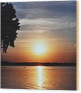 Somewhere Sunset  Wood Print