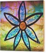 Son Flower Wood Print