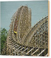 Son Of Beast Roller Coaster Wood Print
