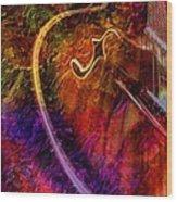 Song And Dance Digital Guitar Art By Steven Langston Wood Print