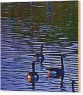 Song Of Geese Wood Print