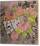 Song Of My Heart And Soul Wood Print by Meldra Driscoll