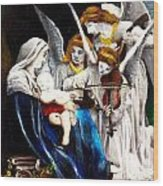 Song Of The Angels By Bouguereau Wood Print