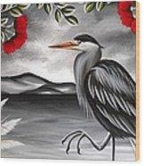 Song Of The Heron Wood Print