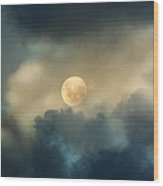 Song To The Moon Wood Print