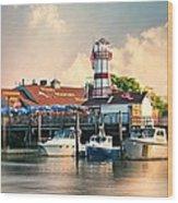 Sono Seaport Seafood Wood Print