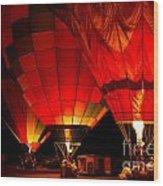 Sonoma County Hot Air Balloon Classic Wood Print
