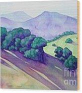 Sonoma Hills Wood Print by Robert Hooper