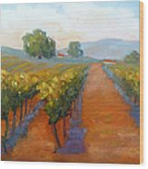 Sonoma Vineyard Wood Print