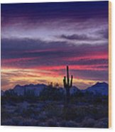 Sonoran Desert Skies  Wood Print