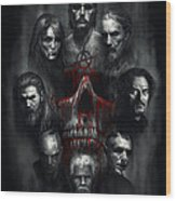 Sons Of Anarchy Tribute Wood Print