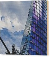 Sony Center In Downtown Berlin Wood Print