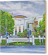 Sony Studios Wood Print