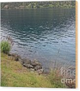 Soothing Lake Crescent Wood Print