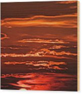 Soothing Saturday Sunset Wood Print