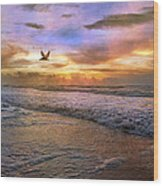 Soothing Sunrise Wood Print by Betsy Knapp