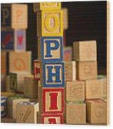 Sophia - Alphabet Blocks Wood Print