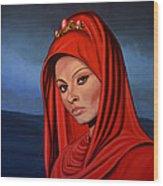 Sophia Loren 2  Wood Print