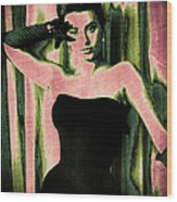 Sophia Loren - Pink Pop Art Wood Print