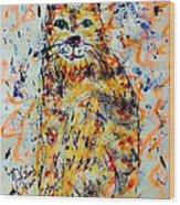 Sophisticated Cat 3 Wood Print