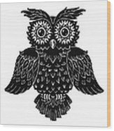 Sophisticated Owls 1 Of 4 Wood Print