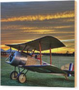 Sopwith Sunset Wood Print