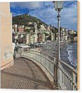 Sori - Sea And Promenade Wood Print