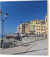 Sori Waterfront. Italy Wood Print