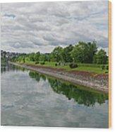 Sorpe Dam Panorama Wood Print