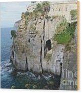Sorrento - Cliffside Wood Print