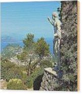 Sorrento Peninsula From Mt Solaro Capri  Wood Print