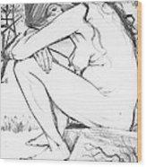 Sorrow After Vincent Van Gogh  Wood Print