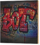 Sot Graffiti - Lisbon Wood Print