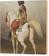 Soudanais Sur Son Etalon Blanc Wood Print
