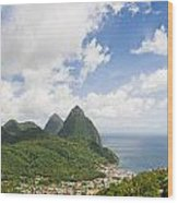 Soufriere St. Lucia Wood Print