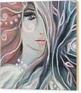 Soul Confessions Wood Print by Hilda Lechuga